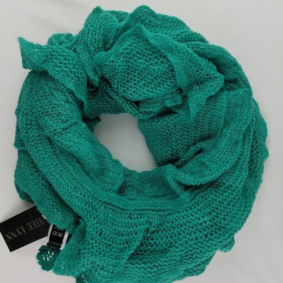 8f258813930e7 Amiee Lynn Accessories | Emerald Ombre Ruffle Infinity Scarf | Poshmark